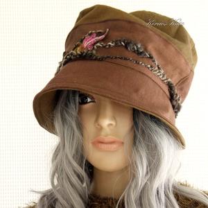 BERTA / fonalas - bohém design kalap  - Meska.hu