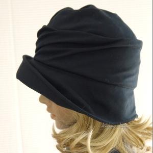 ERNA cloche - éjkék flapper kalap (brokat) - Meska.hu