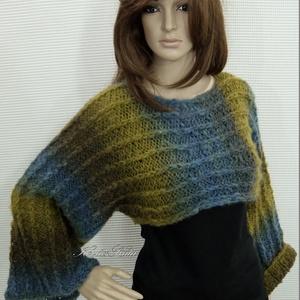 KIMONÓ-BOLERÓ - kézzel kötött pulóver (brokat) - Meska.hu