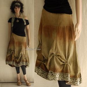 GAIA / ősz - kézzel festett design-szoknya , Ruha & Divat, Szoknya, Női ruha, Festett tárgyak, Varrás, Meska