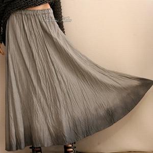 KORMOS - lagenlook selyemszoknya, Ruha & Divat, Szoknya, Női ruha, Viszkóz-selyemből készült körgloknis szoknya alján kézi-festéssel. Hűvös tapintású, szép esésű anyag..., Meska