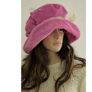 ANDERSEN / málna - kordbársony design-kalap L (brokat) - Meska.hu