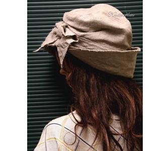 TANIA / FLAMAND - lenvászon design-kalap  (brokat) - Meska.hu