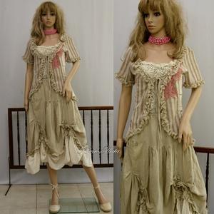 RENÁTA-szett - shabby chic öltözet, Ruha & Divat, Ruha, Női ruha, Ezt a három-részes öltözetet a romantika-rajongóinak állítottam össze:  TOP - Különleges vintage csi..., Meska