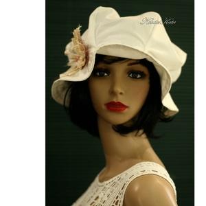 BUCKET - romantikus nyári-kalap - ruha & divat - sál, sapka, kendő - kalap - Meska.hu