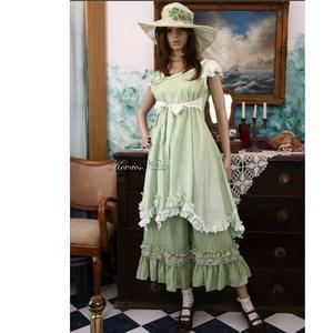 OPHELIA / zöld - shabby chic princessz-ruha  - Meska.hu