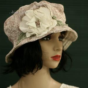 GEMMA - romantikus kalap / virágmintás - Meska.hu