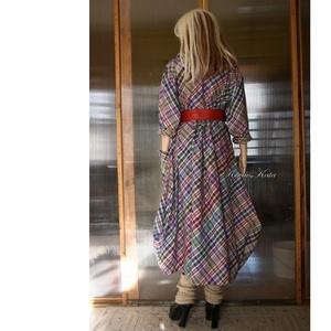 KÖRTE-RUHA - lagenlook flanel ruha (brokat) - Meska.hu