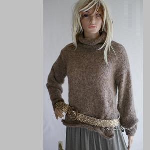 CIRMI - kézzel kötött alpaka pulóver, Táska, Divat & Szépség, Női ruha, Ruha, divat, Ruha, Kötés, Vatta-puhaságú, klasszikusan elegáns, magas-nyakú, meleg pulóver, igazi luxus a hűvösebb napokra.\nOl..., Meska