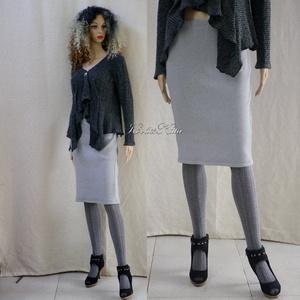 CIGARET- gépi-kötött szoknya, Ruha & Divat, Női ruha, Szoknya, Passzé-szerű, jó tartású gépi kötött kelméből készült cigaretta-szoknya.  Egy 'nőcis' ruhatár kényel..., Meska