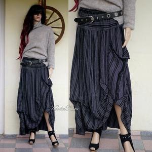 LUCA-SZOKNYA / fekete-fehér - lagenlook fashion design , Ruha & Divat, Szoknya, Női ruha, Varrás, Meska