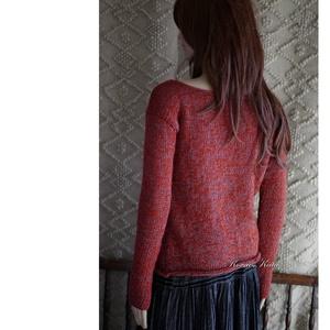 ALPAKA PULCSI - kézzel kötött design pulóver JULY  (brokat) - Meska.hu