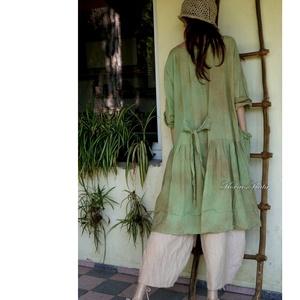 IBI-RUHA - artsy lagenlook flapper ruha / őszi levél - Meska.hu