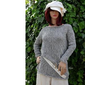 IDA - kézzel kötött tunika, pulóver - Meska.hu