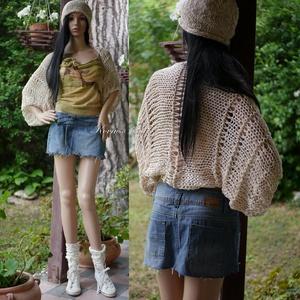 GRUNGE-BOLERÓ - kézzel kötött nyári bohó kabátka, rövid kardigán, Táska, Divat & Szépség, Ruha, divat, Női ruha, Poncsó, Kabát, Kötés, Trendi. kimonó fazonú, lazán kötött nyári kabátka, ami tökéletes komfortot biztosít a hűvösebb nyári..., Meska