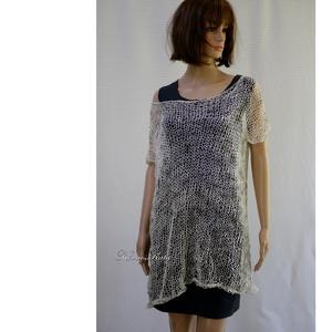 HÁLÓ-TUNIKA - kézzel kötött nyári dekor pulóver - Meska.hu