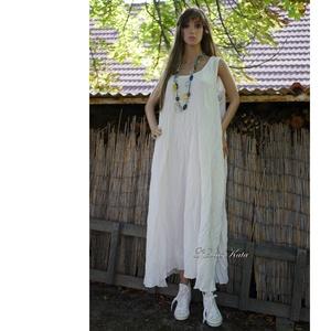 MOLLY / ivory plázs-ruha - kánikula-ruha XXL - Meska.hu