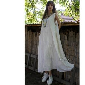 MOLLY / ivory plázs-ruha - kánikula-ruha XXL, Ruha & Divat, Női ruha, Ruha, Varrás, Meska