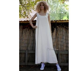 EMILY XXL- lagenlook lenvászon-ruha, plázs-ruha - Meska.hu