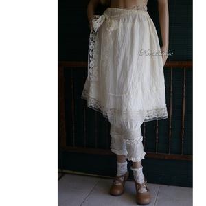 RÓZA - romantikus szoknya, alsószoknya csipkeszalaggal - Meska.hu