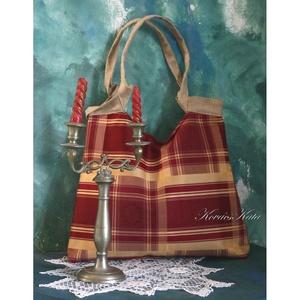 MAXIMA -exkluzív brokát táska, Válltáska, Kézitáska & válltáska, Táska & Tok, Varrás, Exkluzív angol bútorszövetből készült nagyméretű táska.\nNap-sárga taftselyem béléssel, nyitott belső..., Meska