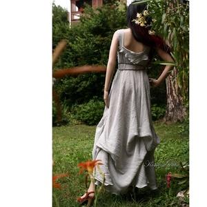 LAGUNA - artsy design - bohém menyasszonyi ruha / ezüstszürke - ruha & divat - női ruha - alkalmi ruha & estélyi ruha - Meska.hu