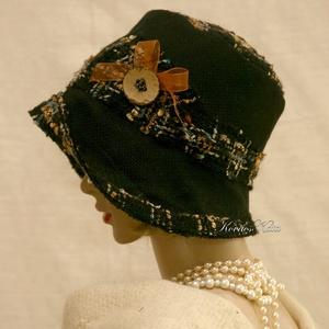 FANNI cloche - exkluzív design kalap (brokat) - Meska.hu