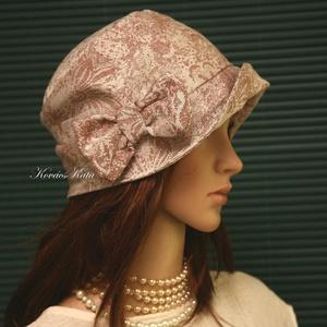 """MARIE cloche - lenvászon flapper kalap, Táska, Divat & Szépség, Női ruha, Ruha, divat, Sál, sapka, kesztyű, Sapka, Varrás, Az 1920-as évek divatja köszön vissza \""""Marie\"""" fantázianevű, kis-karimájú, fejhez simuló design-kalap..., Meska"""