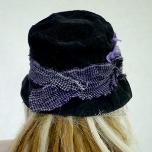 NIGHT FLOWER - kordbársony design kalap (brokat) - Meska.hu