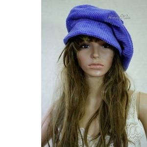 RETRO-SAPI -  kordbársony design kalap / encián (brokat) - Meska.hu