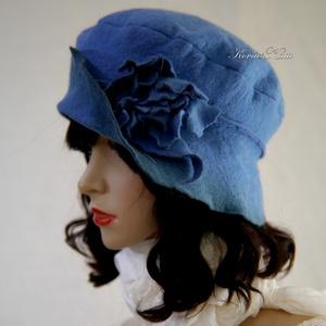 POLLY -  artsy design kalap / kék - Meska.hu