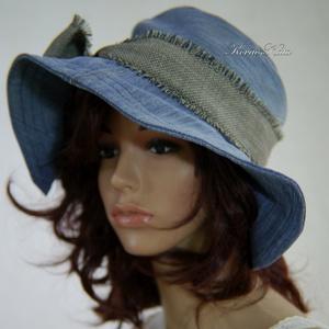 AGATHA - romantikus design farmer kalap (brokat) - Meska.hu