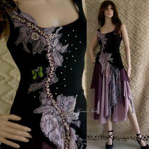 LYRA - artsy design ruha , Táska, Divat & Szépség, Női ruha, Ruha, divat, Blúz, Ruha, A művészi vintage stílus szerelmeseinek ajánlom e kollekcióm aprólékos munkával és sok-sok szeretett..., Meska