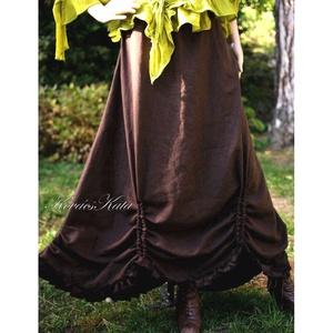 BERTA-SZOKNYA - lagenlook lenvászon szoknya, Ruha & Divat, Női ruha, Szoknya, Kényelmes és divat-álló ez a romantikus - lagenlook darabom, amelyet gyárilag puhított-előmosott len..., Meska