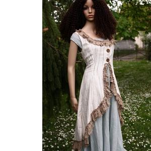 ESTELLA - romantikus lagenlook mellény   (brokat) - Meska.hu