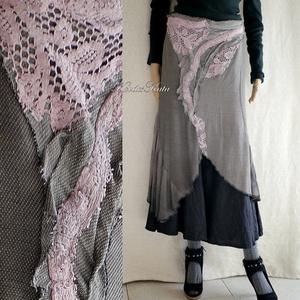 GINGER - artsy applikált design szoknya, Ruha & Divat, Szoknya, Női ruha, Festett tárgyak, Varrás, Meska