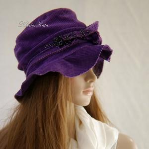 JUTTA - bohém kordbársony kalap (brokat) - Meska.hu