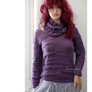 BABY ALPAKA PULCSI - kézzel kötött exkluzív artsy-design pulóver / BARKA hanga - Meska.hu