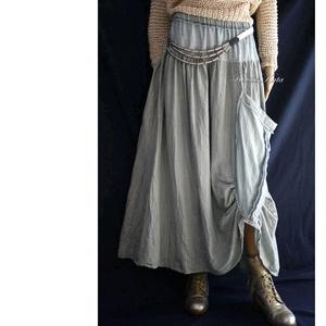 LUCA-SZOKNYA / jade - artsy lagenlook design szoknya, Ruha & Divat, Szoknya, Női ruha, Varrás, Festett tárgyak, Meska