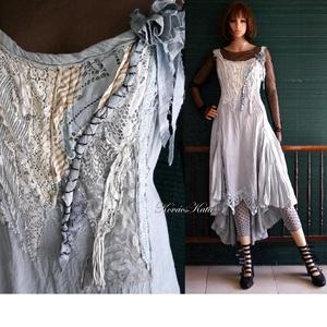 TAMARA/slate - shabby chic design-ruha  - Meska.hu