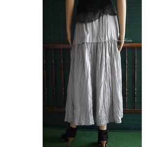 PILLE-SZOKNYA - romantikus selyem szoknya, alsószoknya / szürke - Meska.hu