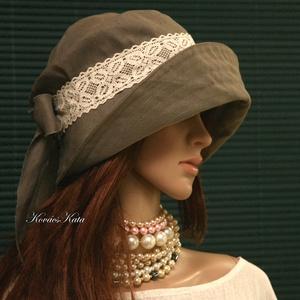 TANIA - lenvászon design kalap  - Meska.hu