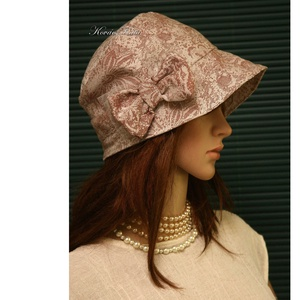 MARIE cloche - lenvászon flapper kalap - ruha & divat - sál, sapka, kendő - kalap - Meska.hu