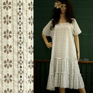 """PIPITÉRES \""""IDA\""""- lagenlook design ruha, Ruha & Divat, Női ruha, Ruha, Varrás, Laza vonalú két-fodros modellemet  könnyű, áttört-mintás \""""habos\"""" pamut-voilé-ből készítettem. \n \nNyá..., Meska"""