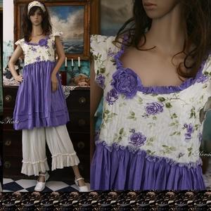 LILLA - baby-doll romantikus nyári ruha, Ruha & Divat, Női ruha, Ruha, Varrás, Meska