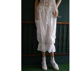 PILLE-NADRÁG - gyűrt selyem design nadrág ELVIRA, Ruha & Divat, Női ruha, Nadrág, Varrás, Lehelet-könnyű, mosással-gyűrt acetát-selymekből készült darabjaim nyári ruhatárad kedvencei lehetne..., Meska