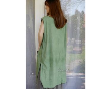 KERTÉSZ-TUNIKA - lagenlook kötényruha / fűzöld - ruha & divat - női ruha - tunika - Meska.hu