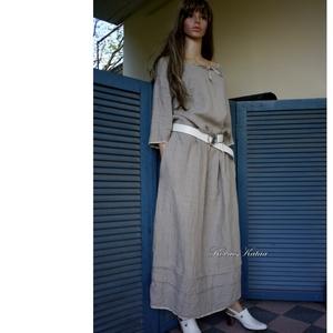 VICA - flax lenvászon hosszú-ruha  - Meska.hu