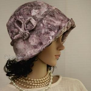 """MALINKA - brokátmintás flapper kalap, Kalap, Sál, Sapka, Kendő, Ruha & Divat, Varrás, Az 1920-as évek divatja köszön vissza \""""Malinka\"""" fantázianevű romantikus design-kalapjaimon.\n\nEz a ro..., Meska"""