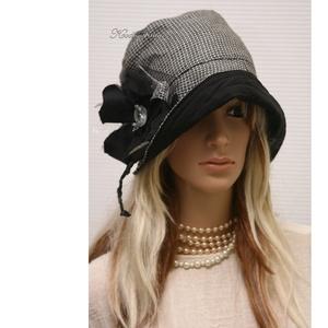 MALINKA cloche  - lenszövet flapper kalap - ruha & divat - sál, sapka, kendő - kalap - Meska.hu